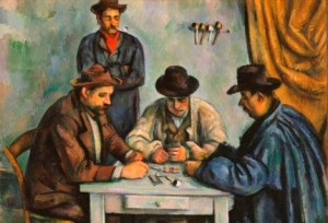 Cézanne Card Players Met2.jpg poker players in free poker games in Largo florida are watched by Largo police