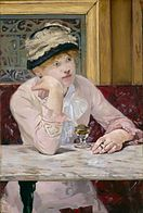 Manet's Plum Witness would not be a great eye witness in a criminal trial in tampa bay florida with the absinthe in front of her clouding her memory and testimony for identification of a criminal perpetrator.