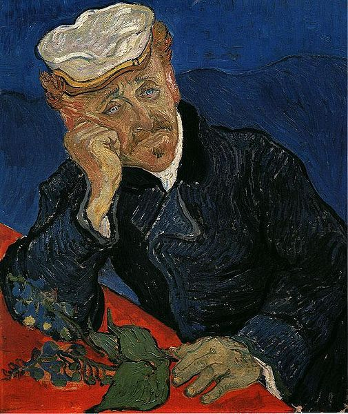 van Gogh - Portrait of Doctor Gachet who would have been arrested in Tampa Bay Florida for Obtaining a Controlled Substance by Fraud if he had prescription pills.
