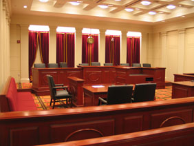 This courtroom in Tampa Bay Florida is where domestic battery cases are prosecuted.